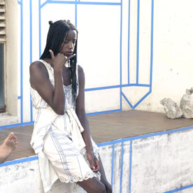 Ajardeck, a film by Camille Dumond, still from the film with Kayije Kagame and Yitu Tchang.