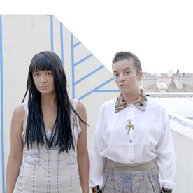 Ajardeck, a film by Camille Dumond, still from the film with Kayije Kagame, Yitu Tchang, Clémentine Ménard.